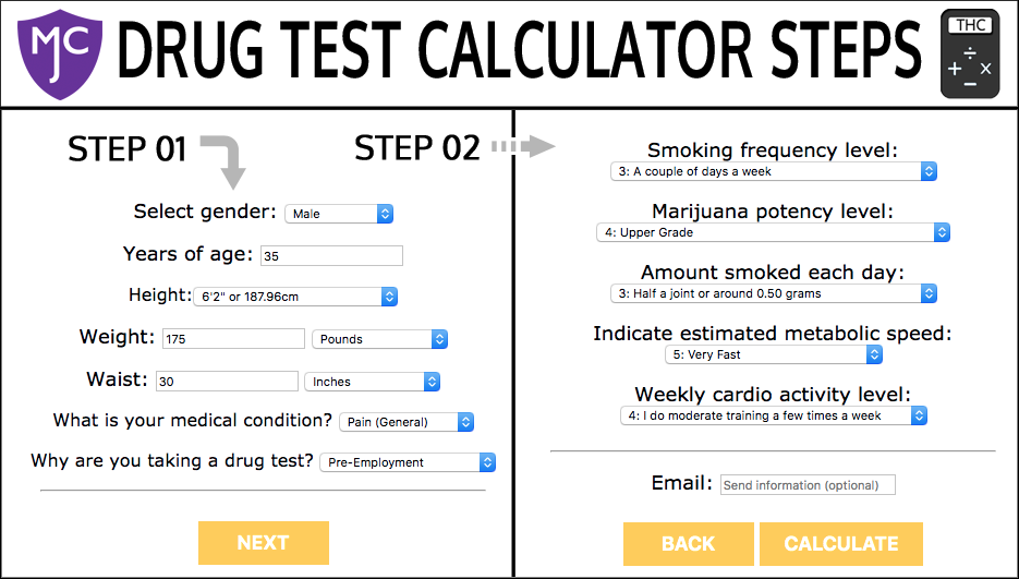 Calculator | Marijuana Central | Cannabis Drug Testing