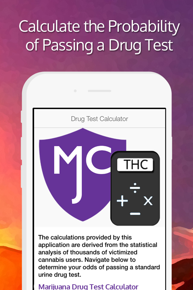 Marijuana Central Drug Test Calculator